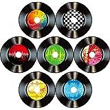 Boao 35 Piezas 7 Pulgadas Decoración de Fiesta de Música de Rock and Roll de 1950's Signos Recortes de Papel Coloridos Disco