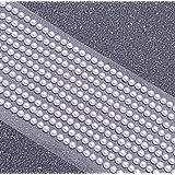 Lot de 1000autocollants mini-perles rondes à dos plat 3mm blanche