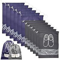 Sacchetti per Scarpe, 10 Pezzi Borsa Custodia Scarpa da Viaggio con Finestrella Trasparente e Coulisse, Impermeabile e…