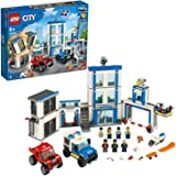 LEGO 60246 City Politiebureau Bouwset met Poppetjes, Politie Speelgoed Vrachtwagen met Verlichtingssteen voor Kinderen van 6