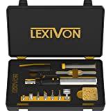 LEXIVON Butaan Soldeerbout Multifunctionele Kit | Draadloze zelfontbrandende Verstelbare Vlam 7-Tip Set | Pro Grade 125-Watt