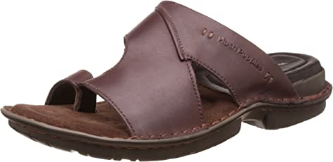 Hush Puppies Men's New Decent Toe Ring Leather Hawaii Thong Sandals
