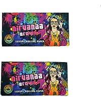 Nirvanaa Brown King Size Slim 33 Leaves Luxury Rolling Paper and Tips - Pack of 2