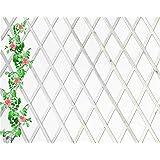 Celosia Extensible de Madera Natural de 1x2 Metros Color (Blanco)