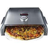Activa - Contenitore per pizza, in acciaio INOX, ca. 44,5 x 13 x 35,5 cm, forno per pizza con indicatore di temperatura per b