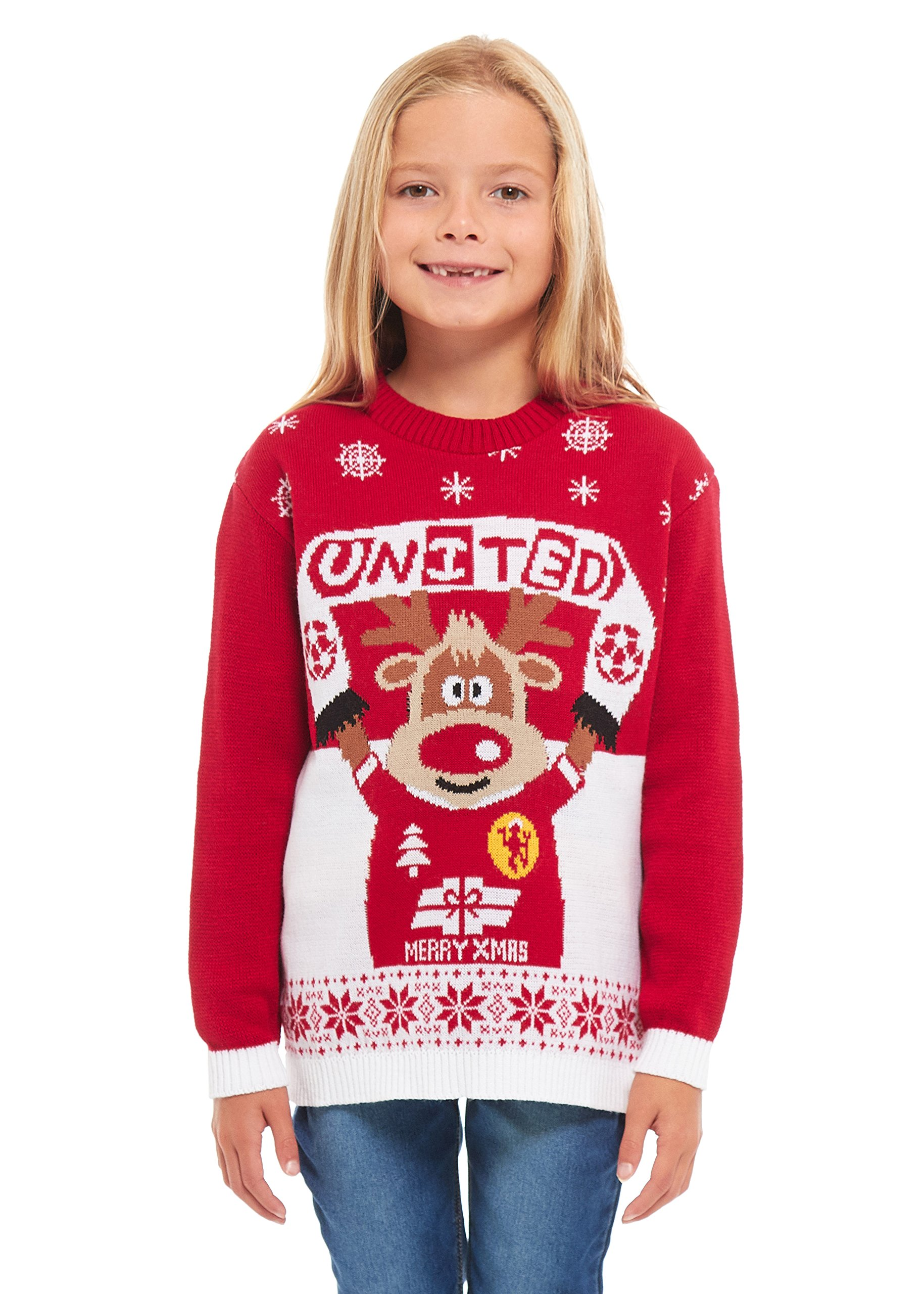 382d51963ee Girls Kids Boys Children Unisex Christmas Xmas Knitted Novelty, Retro, Elf,  Star Wars Football Jumper Sweater Christmas Xmas Exclusively to HSA Ltd ...