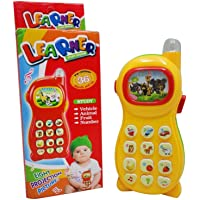 Mqfit Learning Mobile Phone Toy for Toddlers and Kids with Image Projection (Random Color)
