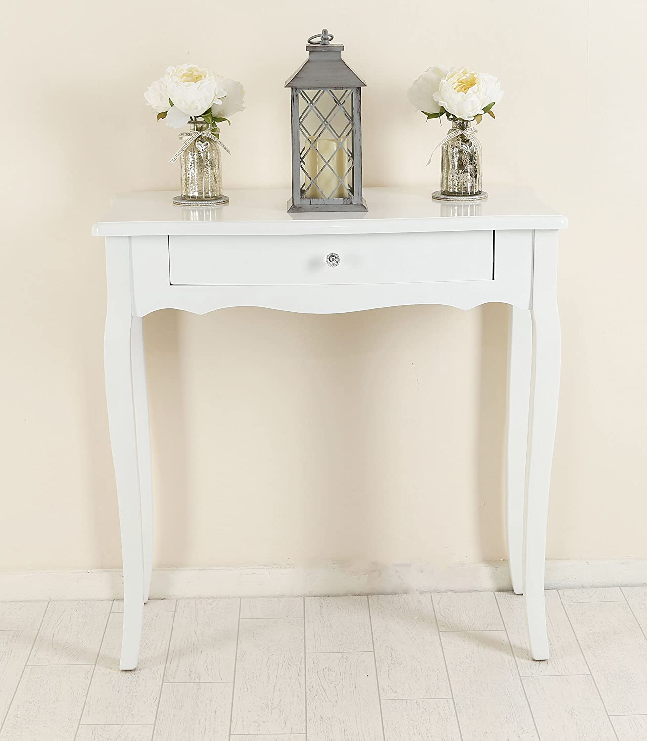White Shabby Chic Console Side Table French Bedroom Hallway 2 3 5 Chest  Drawers Matching Set (2 Drawers Side Table): Amazon.co.uk: Kitchen U0026 Home