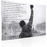 Rocky Balboa Stampa su tela, formato A1, con citazione di speranza 76,20 cm x 50,80 cm