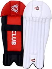 CW Club Premium Quality PVC Facing Light Weight Wicket Keeping Leg Guards/Pads Senior/Men's/Teen's/Adult Size Ideal for 14+ Yr Child/Sports Players