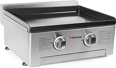 FireFriend BQ-6394 Piastra di Cottura a Gas, Argento