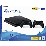 PlayStation 4 Slim 500GB F Chassis, Jet Black + 2° Dualshock 4 [Edizione: EU]