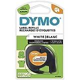 DYMO LetraTag Bügeletiketter autentisk | svart på vitt | 12 mm x 4 m | tygetiketter | för LetraTag-etiketteringsanordning