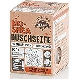 Bio Duschseife mit Seifensäckchen ohne Plastik und Palmöl (Shea)