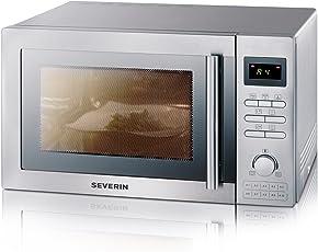 Severin MW 7848 Mikrowelle (900 Watt 25 Liter Grill und Heißluft) silber (Zertifiziert und Generalüberholt)