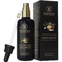 Der SIEGER auf Vergleich.org - Bio Arganöl Fair Trade 100ml - Kaltgepresst in Lichtschutz Glas-Flasche - Serum für Anti-Aging - Pflege für Junge Haut, Gesicht & Haare - Halal + Vegane Naturkosmetik