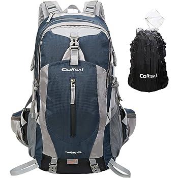 Colisal 40L Mochila Senderismo Mochilas Trekking Mujer Hombre con Funda Cubierta Impermeable de Mochila para Alpinismo Montaña Escalada Camping Viaje ...