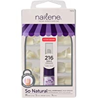 Nailene So Natural Full Cover Active Square 216 Nail Tips with glue