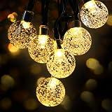 OMERIL Solar String Lights, 26ft Outdoor Garden Lights Solar/USB Powered, Waterproof 50 LEDs Crystal Ball Decorative…
