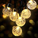 Guirnaldas Luces Exterior Solar, OMERIL Luces Navidad Guirnalda Solares con USB Recargable, 50 LED y Impermeable IP65, Cadena