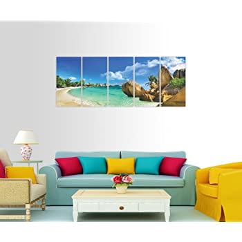 Split Painting   5 Frames - 5 Paintings  BEACH VIEW Themed   Size ...