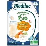 Modilac Mes Céréales du Soir Bio Dès 4 Mois Carottes 250 g