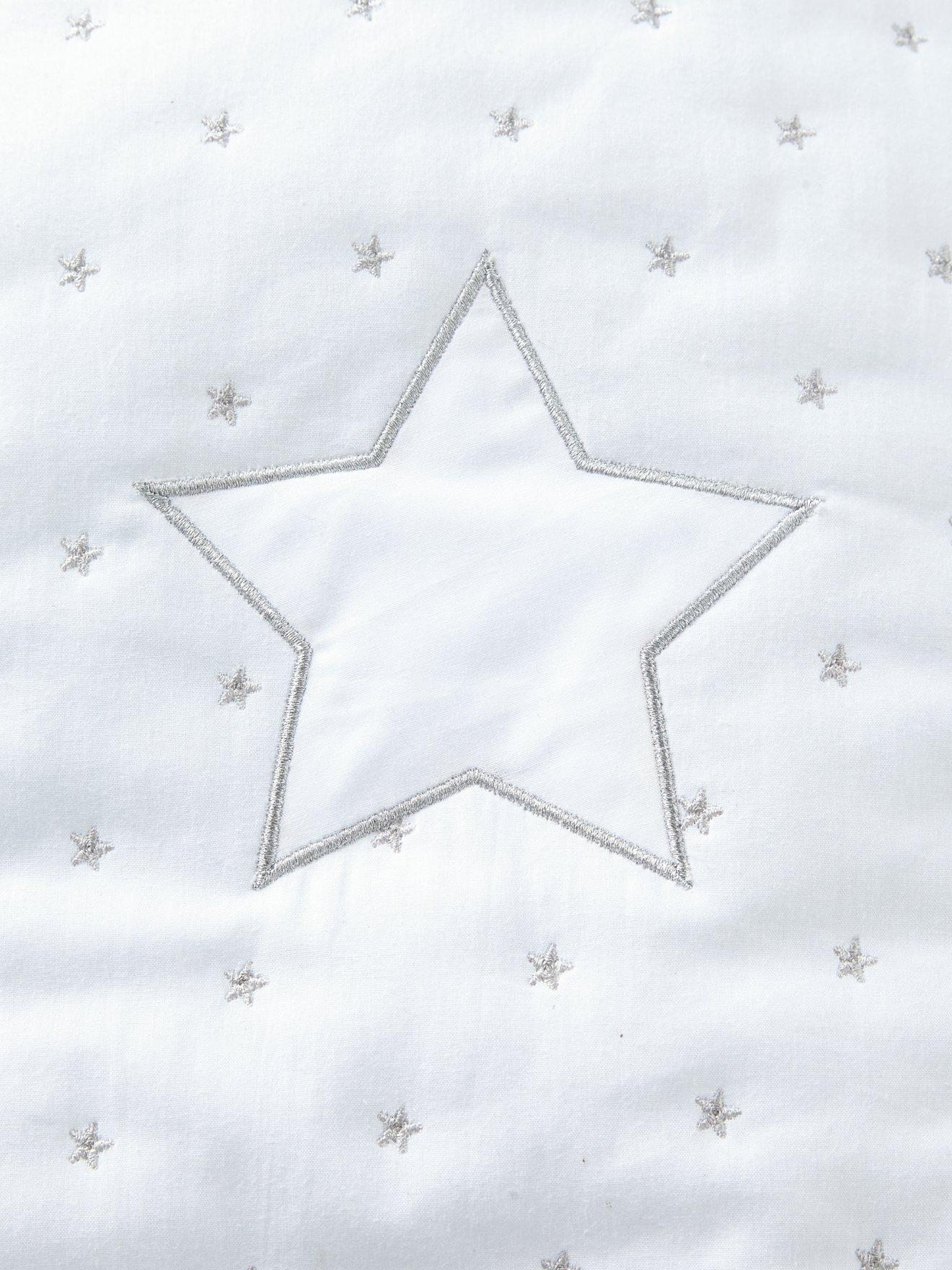 VERTBAUDET Saquito de mangas desmontables LLUVIA DE ESTRELLAS Blanco/Estrellas 60