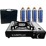 Gaskoker met draagkoffer + 4 gascartouches