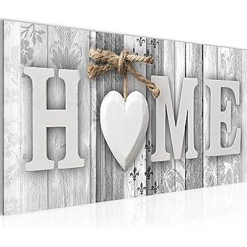 Bilder Home Herz Wandbild Vlies - Leinwand Bild XXL Format
