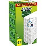 Swiffer Dry Panni Cattura Polvere, 63 Panni, Cattura e Intrappola Polvere e Sporco, Ottimo per I peli di Animale, per Tutti I