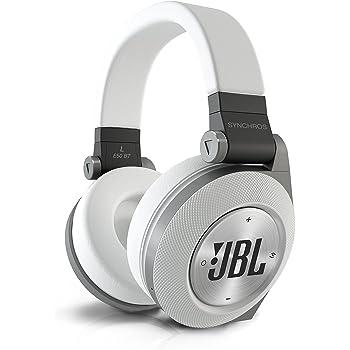 JBL E50 BT Cuffie Stereo Bluetooth Imbottite, Ricaricabili, Wireless, Compatibili con Prestazioni Purebass, Compatibili con Dispositivi Apple iOS e Android, Bianco