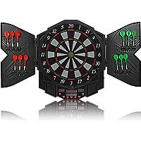 High End LED Elektronische Dartscheibe - Dart Scheibe E Dartboards Dartautomat mit 12 Dartpfeile - 27 Spielen und 216…