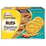 Sunfeast Farmlite Nuts Digestive Biscuit | High Fibre | Goodness of Almonds, Cashews and Wheat Fibre, 250g