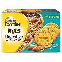 Sunfeast Farmlite Nuts Digestive Biscuit   High Fibre   Goodness of Almonds, Cashews and Wheat Fibre, 250g