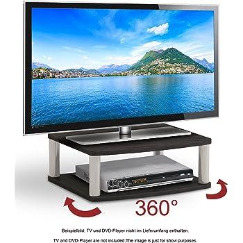 Ricoo Plateau Tournant Meuble Tv Led Fs052b Meuble Tele Support