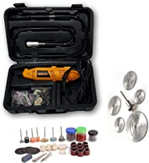 Tools Centre Ingco Imported 164pcs Die Grinder Rotary Tool Kit With Flexible Shaft & Accesories Kit.