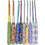 9pcs Crochet tricot, poignées ergonomiques aiguilles bricolage artisanat kit de crochet ergonomique poignée souple poignées à