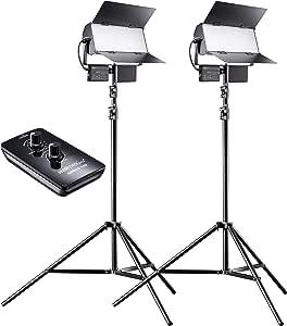 Walimex Pro Led Sirius 160 Bi Color 2er Set Mit Stativ Kamera