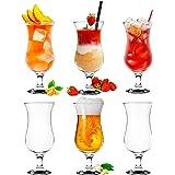 Platinux Verres à cocktail 400ml (max. 470ml) en verre Set (6 pièces) Verres à long drink Verres de fête Verres à milk-shake