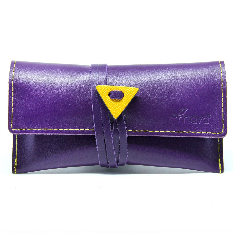 Mavà, Portatabacco in vera pelle artigianale Purple Haze