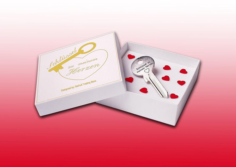 Geschenke 24: Schlüssel Zu Meinem Herzen Mit Gravur Silber: Amazon.de:  Spielzeug
