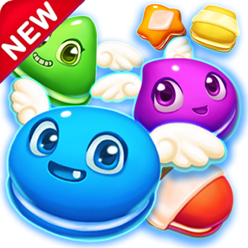 Macaron Pop : Sweet Match3 Puzzle (Von Crush King Soda-game Candy)