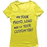 lepni.me Camiseta Mujer Regalo Personalizado, Agregar Logotipo de la Compañía, Diseño Propio o Foto