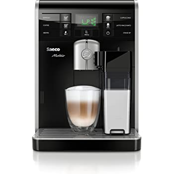 Saeco Moltio HD8769/01 Kaffeevollautomat (1850 W, integrierte Milchkaraffe) schwarz