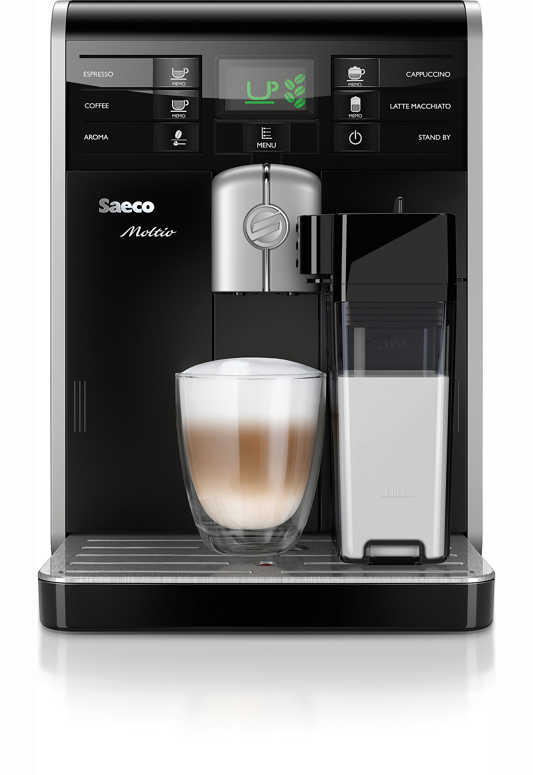 Saeco-Moltio-HD876901-Kaffeevollautomat-1850-W-integrierte-Milchkaraffe-schwarz