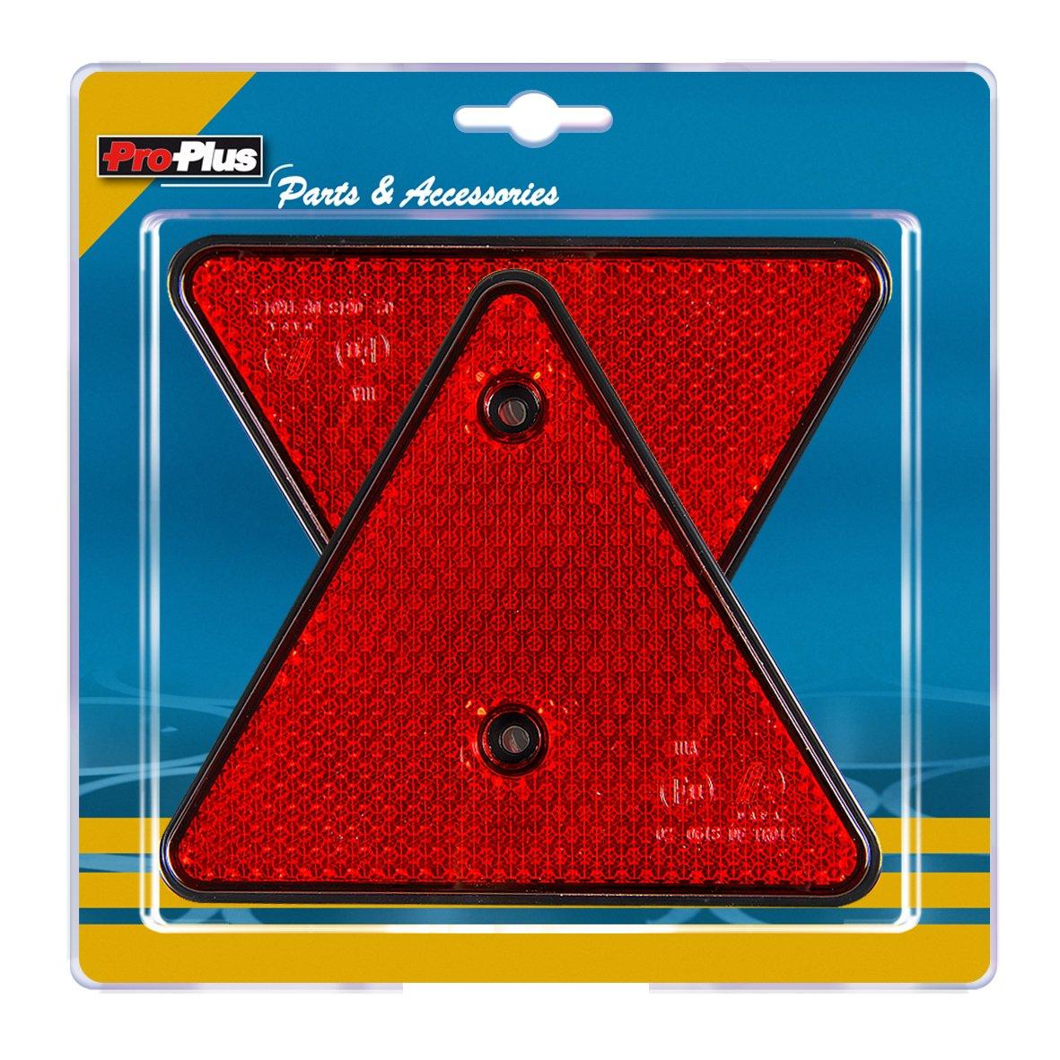 PROCAR ProPlus 343751S Réflecteur de Triangle, Set de 2