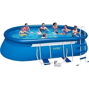 Intex Aufstellpool Oval Frame Pool Set Tuv Gs Blau 549 X 305 X