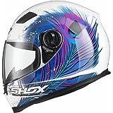 Shox Sniper Peacock Damen Motorrad Roller Rennsport Integralhelm