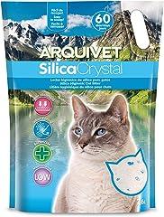 Arquivet Arena para Gato Silica Crystal - Capacidad 7.6 L, lecho higiénico para Gatos, felinos, Capacidad Absorbente, Ayuda a