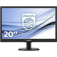 Philips Monitor per PC, 19.5 Pollici, 16:9, Ingresso VGA, 1600x900, Nero